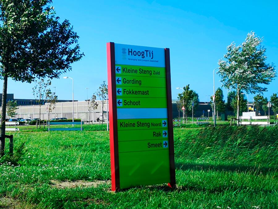 Bewegwijzering bedrijvenpark Hoogtij