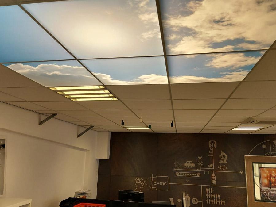 Verlichte plafondpanelen