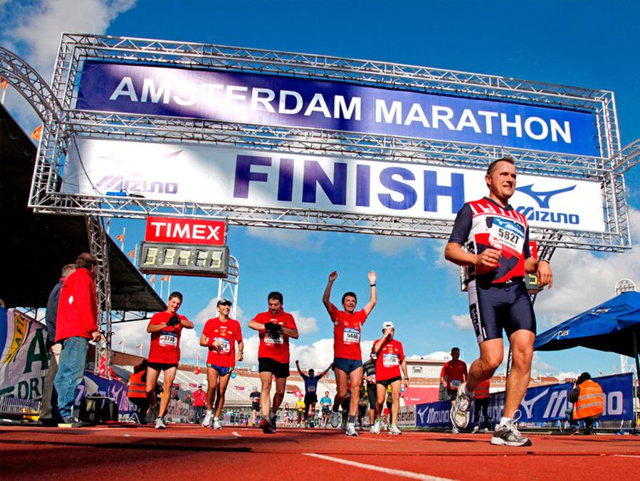Citydressing voor de Amsterdam Marathon